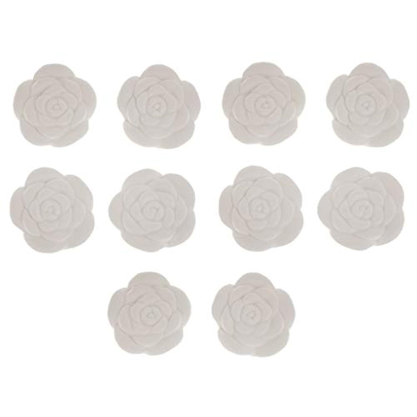 平野バラエティ美容師アロマストーン エッセンシャルオイル用 花形 10個 オフィス用 車用 家庭用