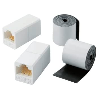 エレコム RJ中継コネクタ 簡易防水テープ 屋外対応版 CAT5e  LD-VAPFR/RJ45WP