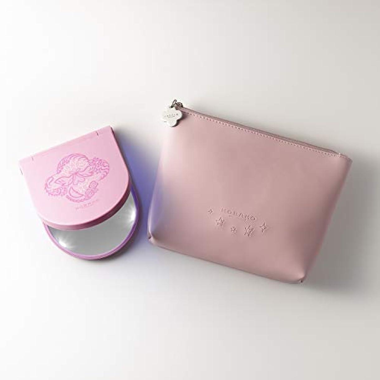 ファイバ大宇宙極小KOBAKO(コバコ) コスメティックミラーセット ピンク ―