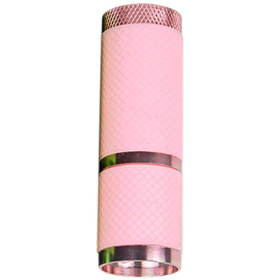 憂鬱活性化役員SODIAL 照明乾燥ネイルポリッシュ懐中電灯9 ledミニネイル懐中電灯ポータブルネイルポリッシュドライヤー紫外線ジェルドライヤー、ピンク