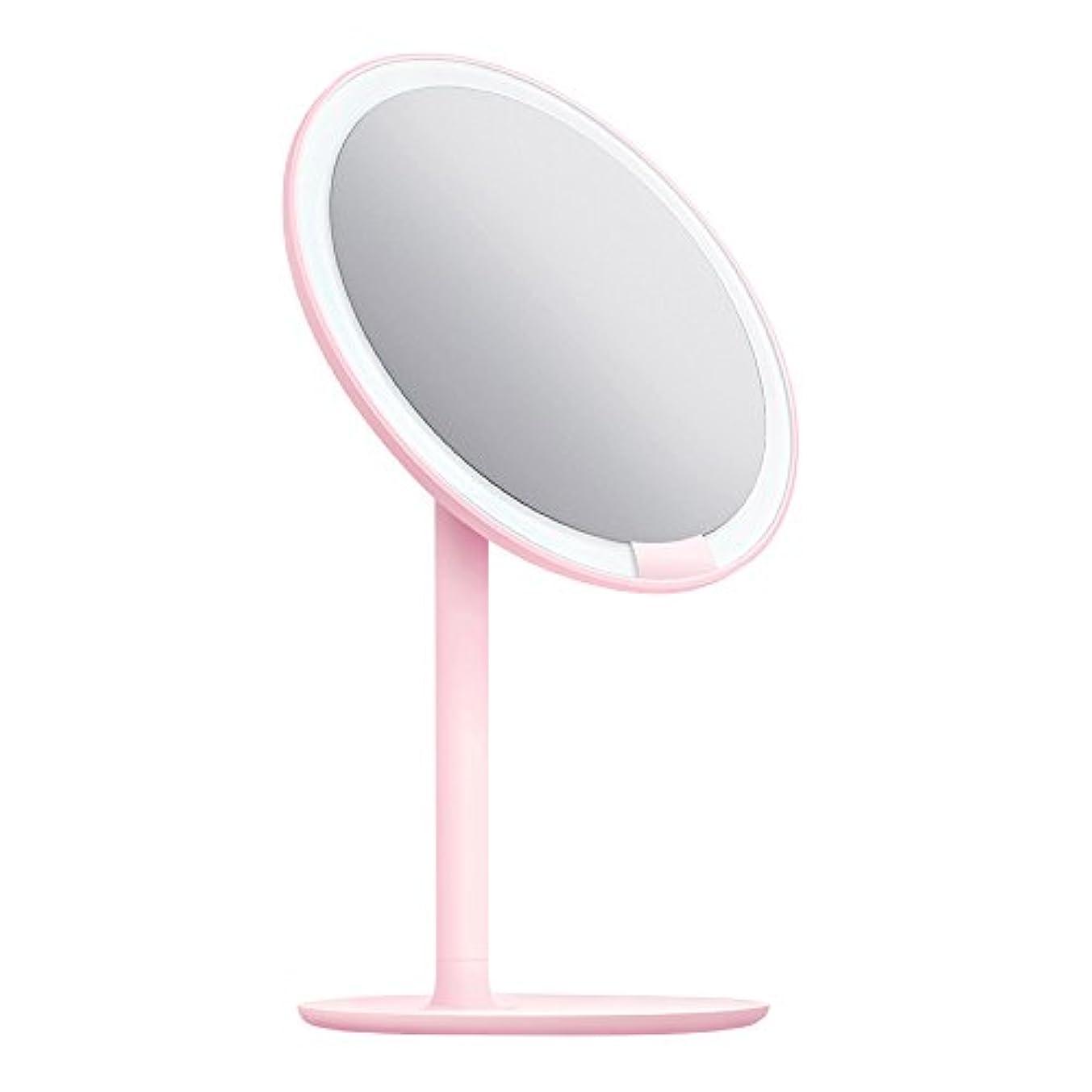 提案する遠近法杭AMIRO 化粧鏡 化粧ミラー LEDライト付き 卓上鏡 女優ミラー 3段階明るさ調節可能 コードレス 充電式