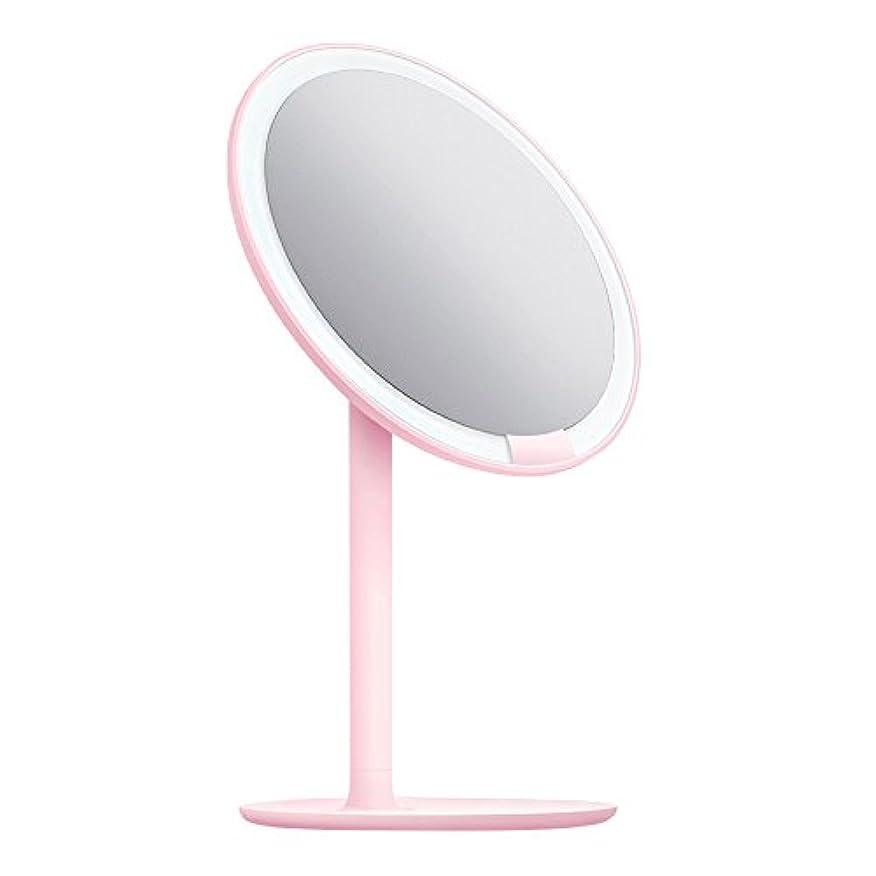 サイレン反対代表するAMIRO 化粧鏡 化粧ミラー LEDライト付き 卓上鏡 女優ミラー 3段階明るさ調節可能 コードレス 充電式