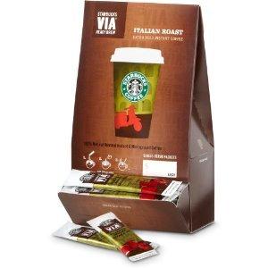 アメリカ発 スターバックス ヴィア VIA インスタントコーヒー (イタリアンロースト味 Italian Roast, 50個)並行輸入品