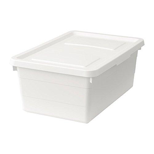 SOCKERBIT ふた付きボックス, ホワイト, 38x25x15 cm