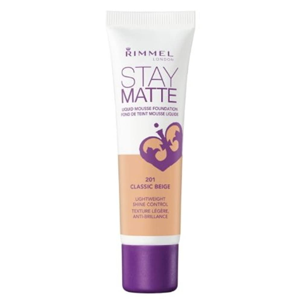 歴史的贅沢な不倫RIMMEL LONDON Stay Matte Liquid Mousse Foundation - Classic Beige (並行輸入品)