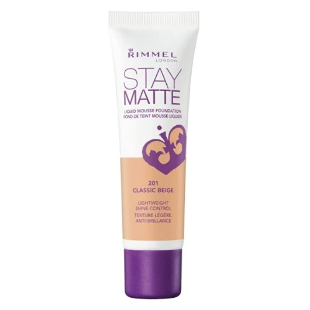 包括的縁格差RIMMEL LONDON Stay Matte Liquid Mousse Foundation - Classic Beige (並行輸入品)