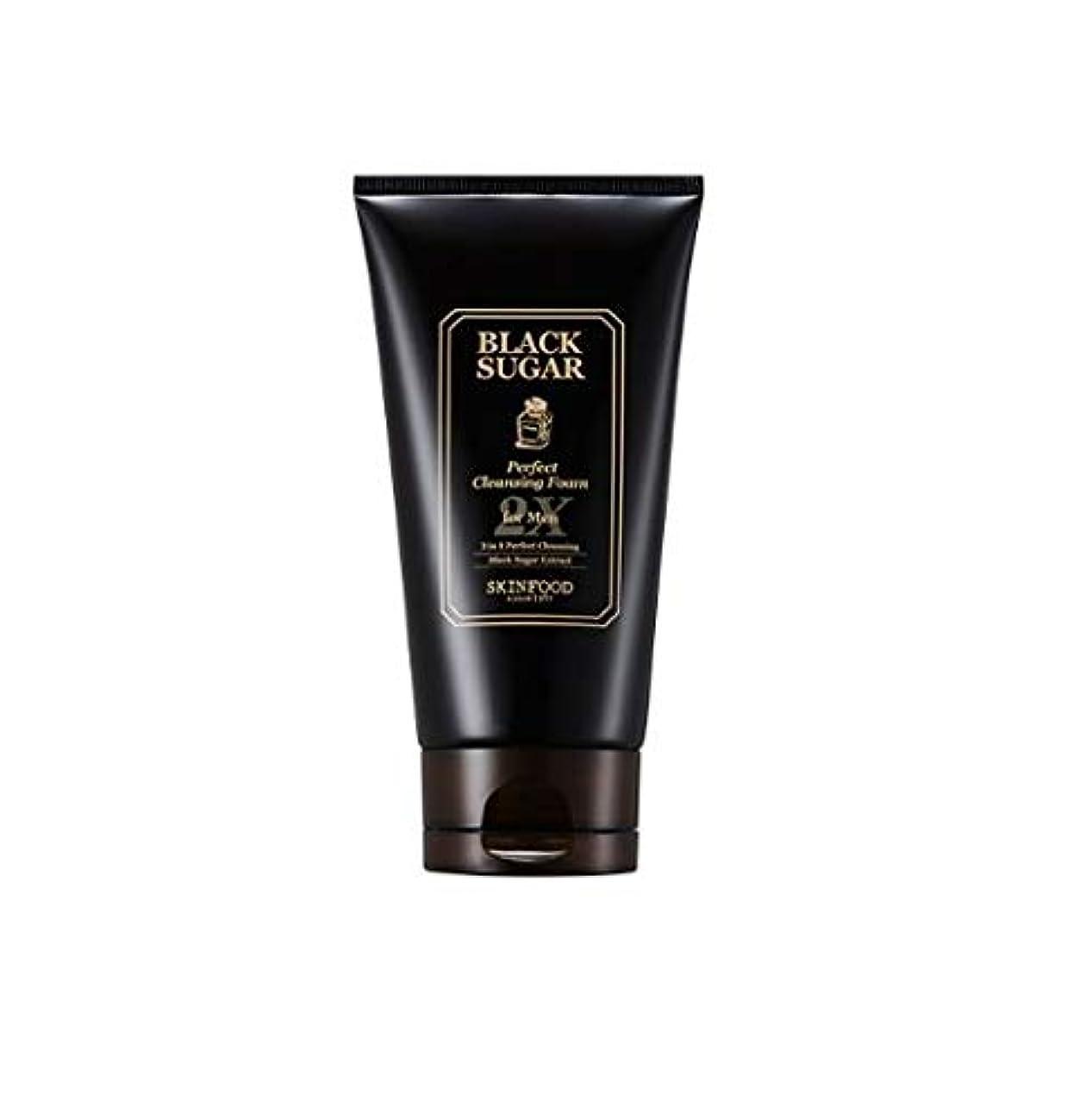 Skinfood 男性用ブラックシュガーパーフェクトクレンジングフォーム2X / Black Sugar Perfect Cleansing Foam 2X for Men 150ml [並行輸入品]