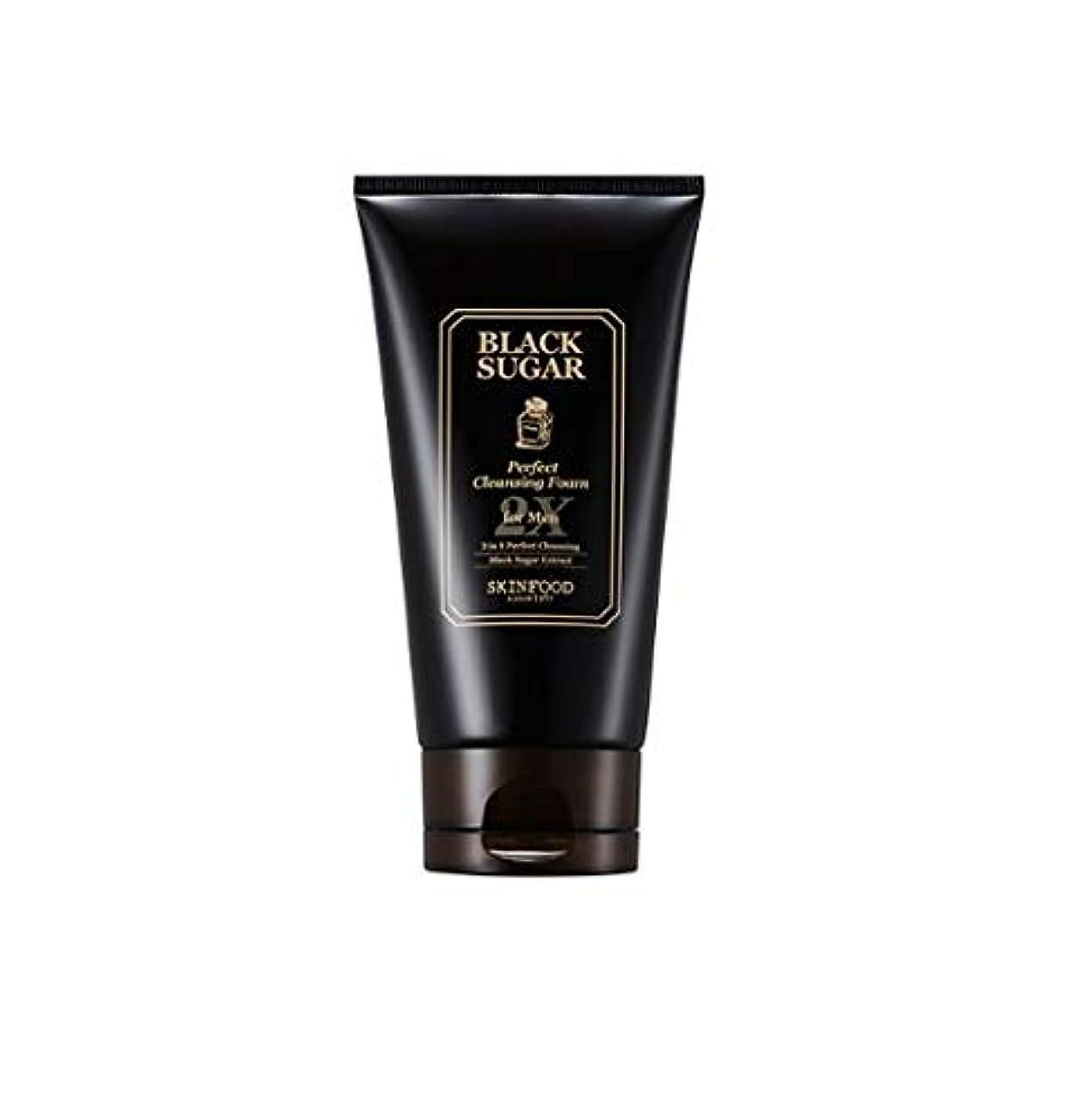 取り付け欺くラビリンスSkinfood 男性用ブラックシュガーパーフェクトクレンジングフォーム2X / Black Sugar Perfect Cleansing Foam 2X for Men 150ml [並行輸入品]