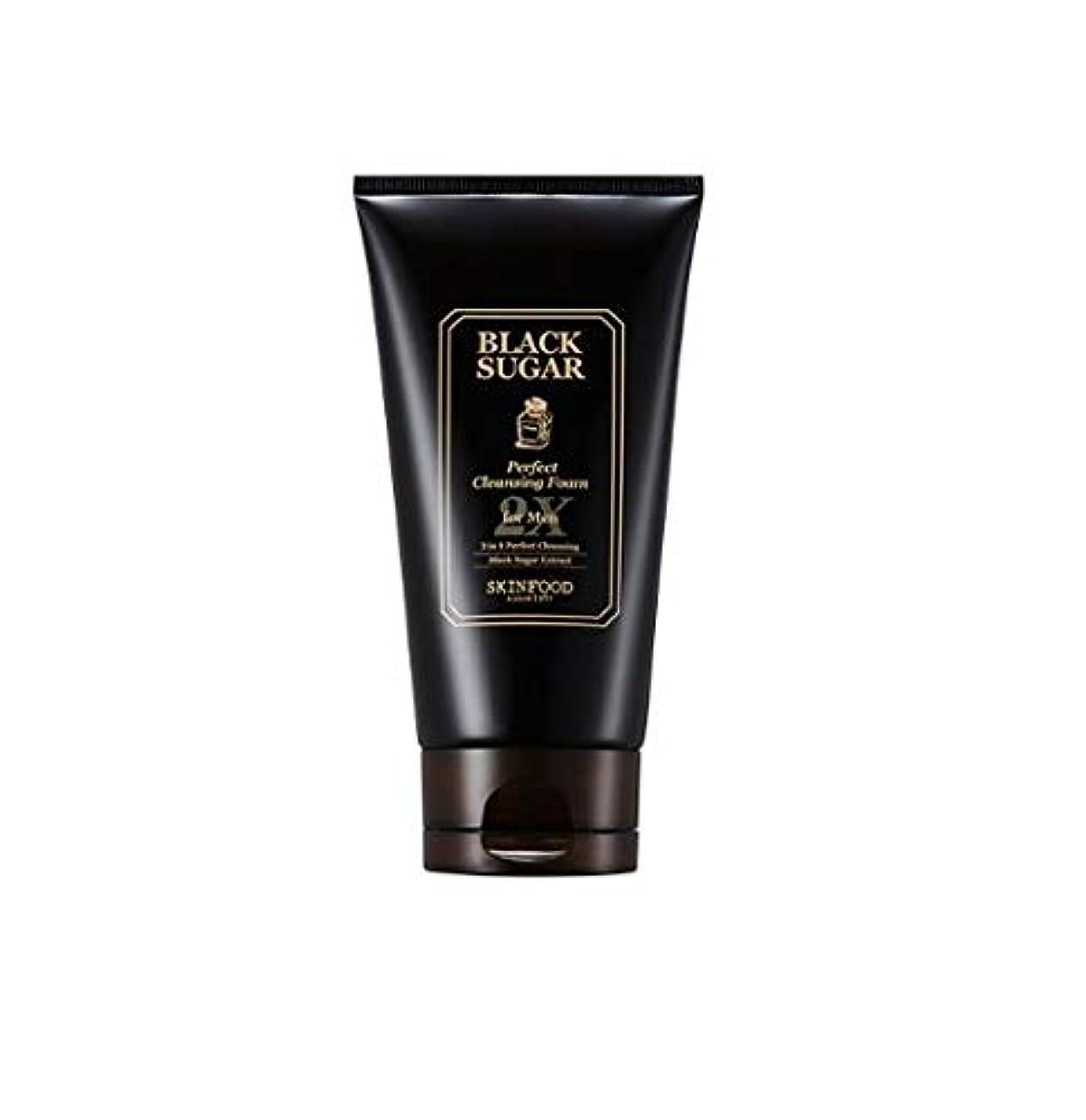 フォーム爆発四回Skinfood 男性用ブラックシュガーパーフェクトクレンジングフォーム2X / Black Sugar Perfect Cleansing Foam 2X for Men 150ml [並行輸入品]
