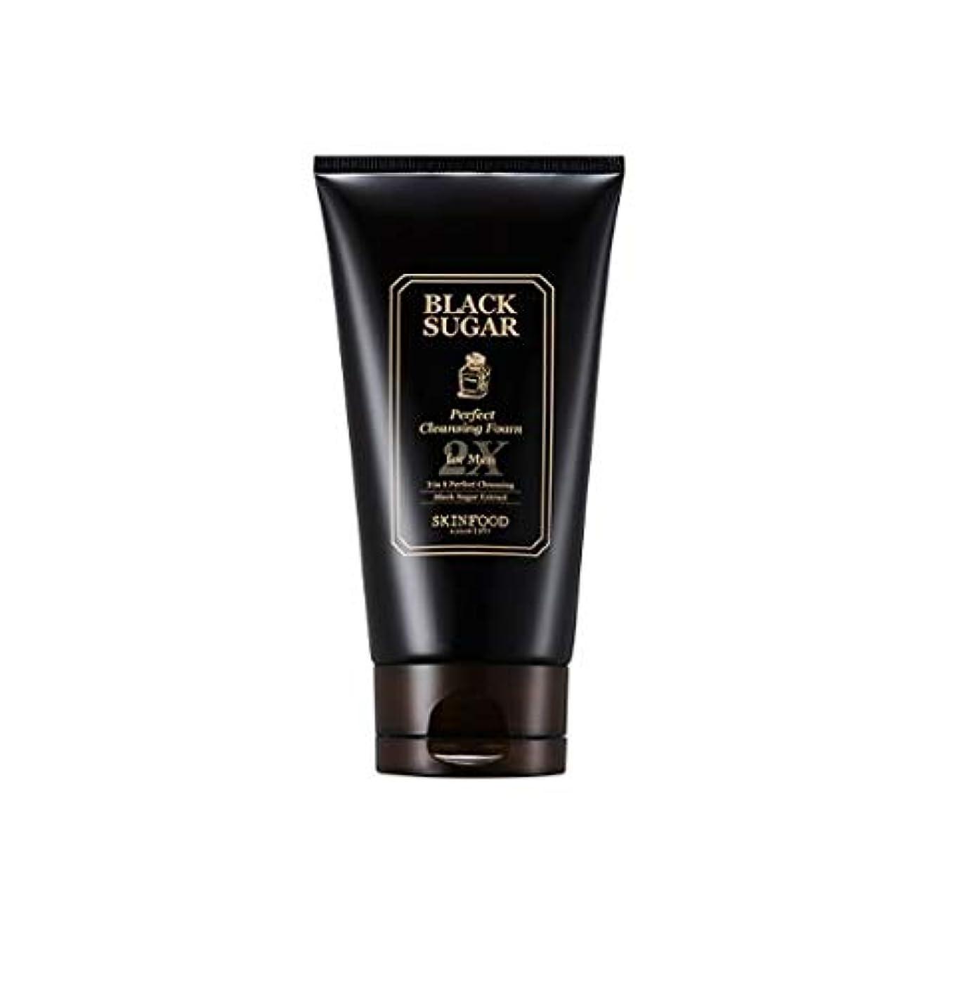 ひねり背が高い初期Skinfood 男性用ブラックシュガーパーフェクトクレンジングフォーム2X / Black Sugar Perfect Cleansing Foam 2X for Men 150ml [並行輸入品]