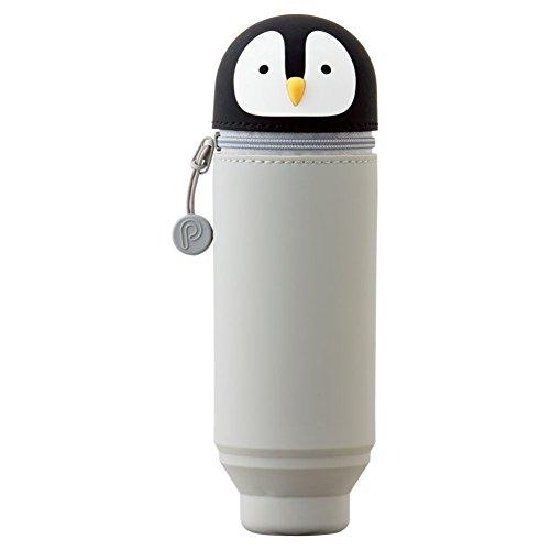 リヒトラブ スタンド ペンケース プニラボ A7712-10 ペンギン