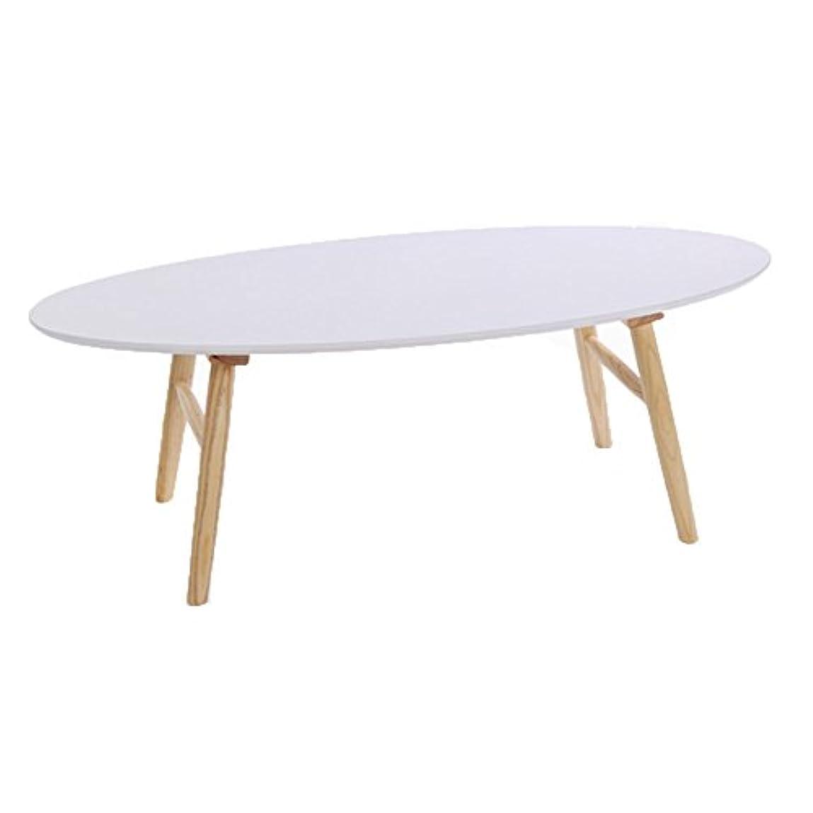 HUO,テーブル コーヒーテーブルソリッドウッドクリエイティブコーヒーテーブルオーバルシンプルな小さなテーブル - 120 * 41CM 多機能 (色 : ログ)