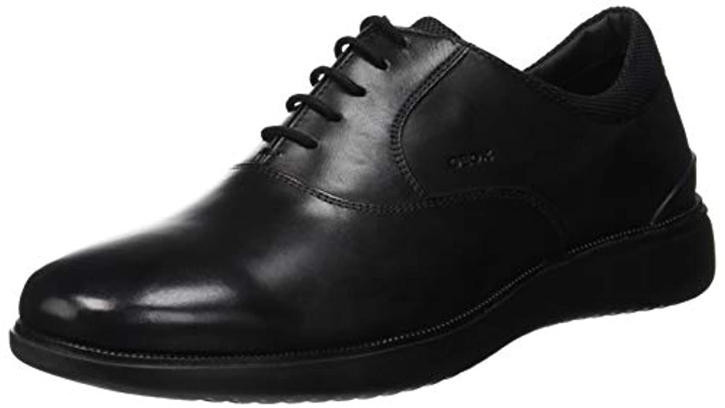 サッカーチャネル化学Geox U Winfred A Smooth Leather Mens Oxfords-Shoes U844CA