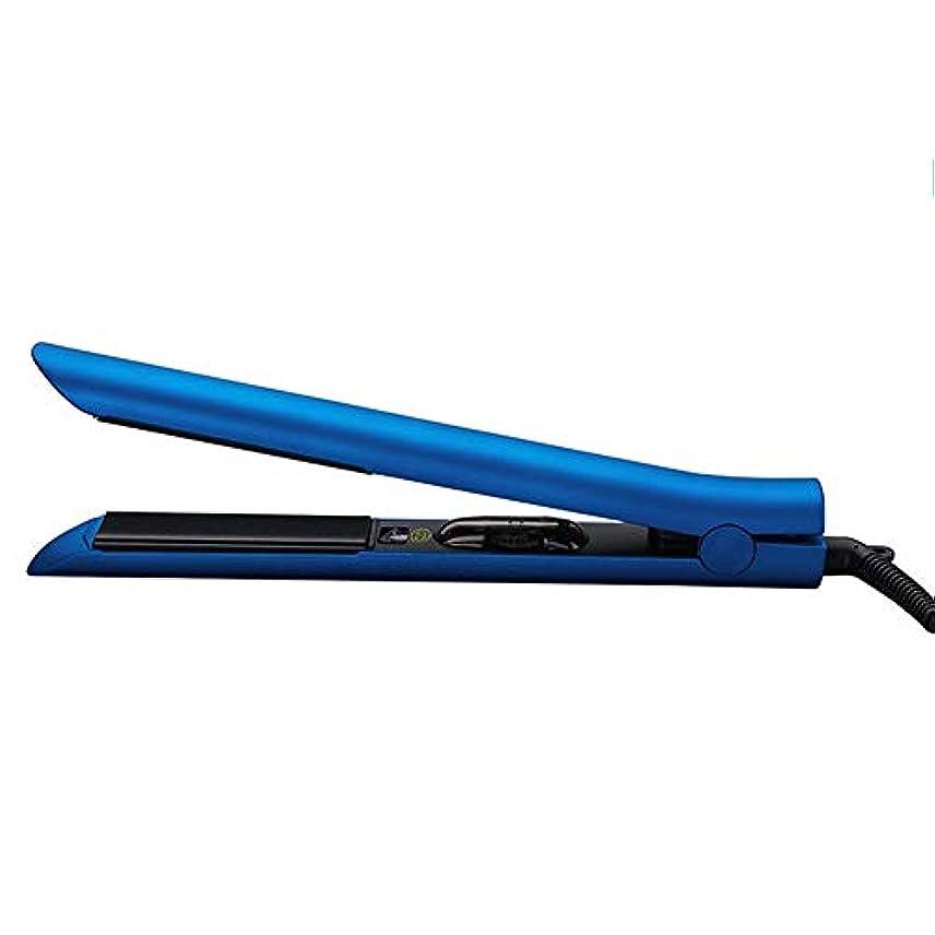 ストレートボリュームデュアルパーパス多機能円筒形ストレートヘアアイロンインテリジェント温度制御ウェットとドライヘアカーラーストレージバッグ赤紫青 (Color : Purple)
