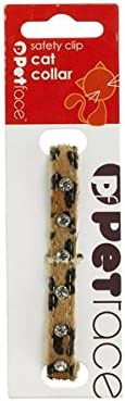 Petface Leopard Print with Diamond Studs Cat Collar