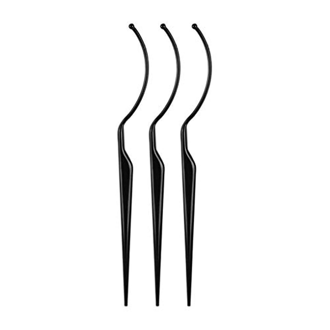 剪断帰るミッションまつげ ディスプレイ まつげ エクステンション ピンセット つけまつげ専用ピンセット 耐久性 軽量 全2色 - ブラック