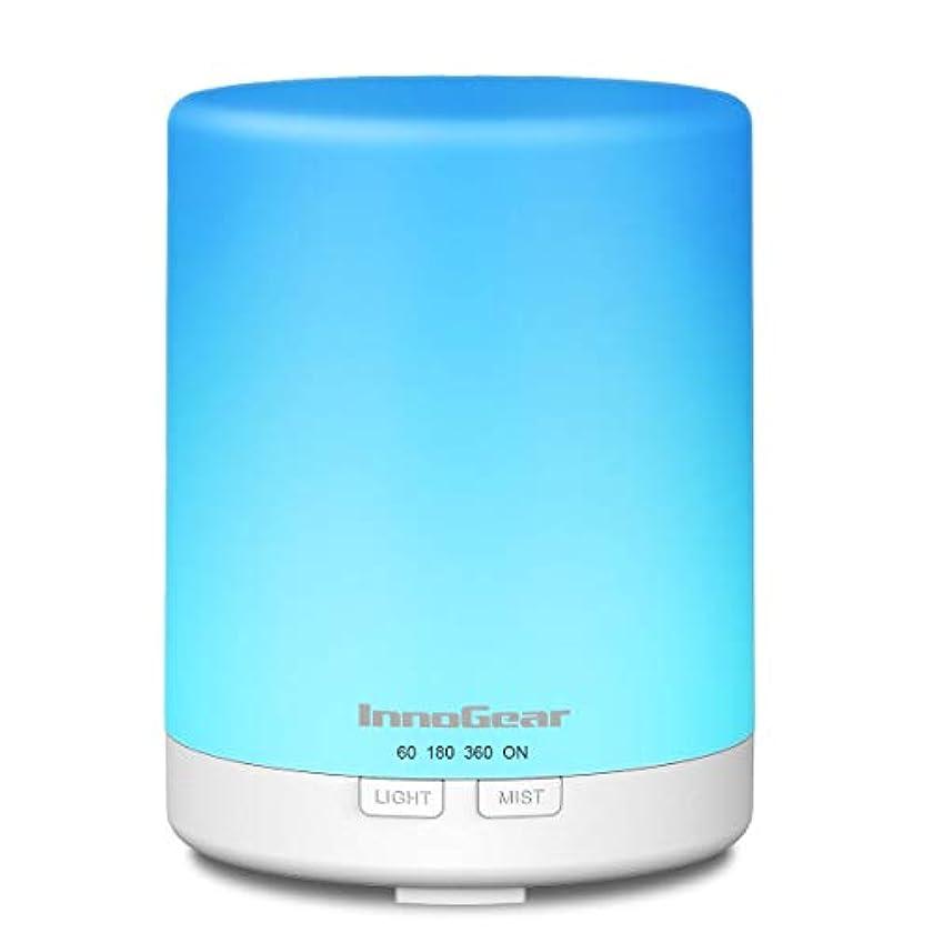 InnoGear 2 nd Generation 300 ml Aromatherapy Essential Oil Diffuserアロマクールミスト加湿器タイマーWaterless自動遮断と14色LEDナイトライトホームオフィス...