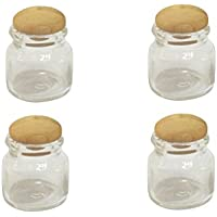 Perfk ガラス ミニ瓶 透明 ミニチュア  人形用  1:12人形ハウスに適応 装飾用 4本セット