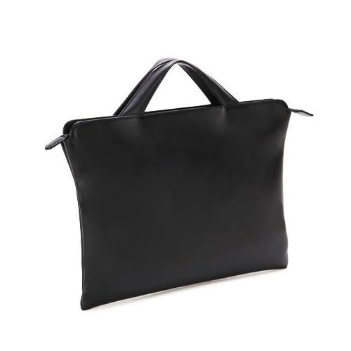 [トライオン] TRION ブリーフケース AA115 A4 バッグ 本革鞄 ビジネス (ブラック)