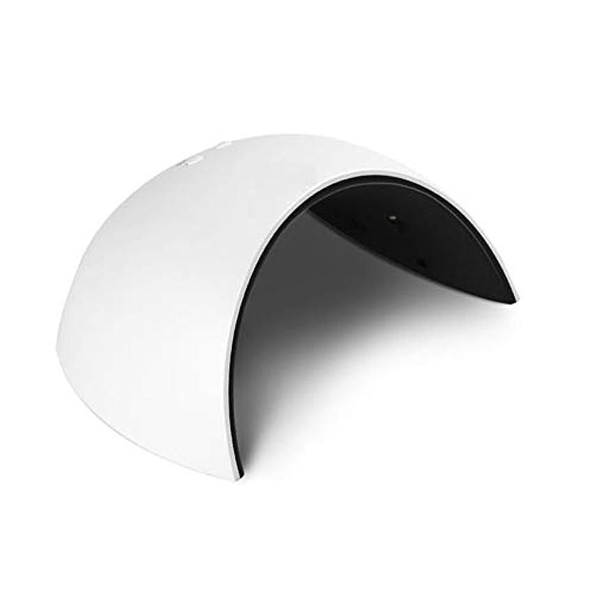 ブロンズ軽食正当化するLittleCat マニキュアマシンベーキングガムライトセラピーランプネイルドライヤー日ランプはLEDネイルUVランプ (色 : White)
