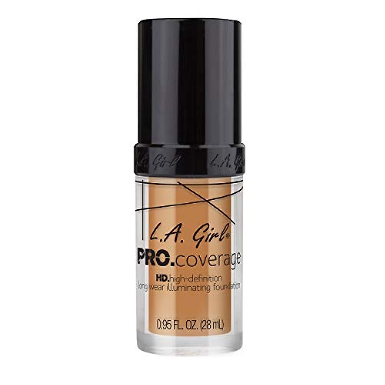 ヘクタールナプキンするだろう海外直送品 L.A. Girl Pro Coverage Liquid Foundation 28ml, Nude Beige