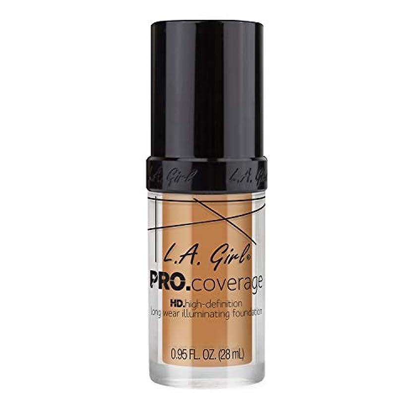 温かいにぎやかダース海外直送品 L.A. Girl Pro Coverage Liquid Foundation 28ml, Nude Beige