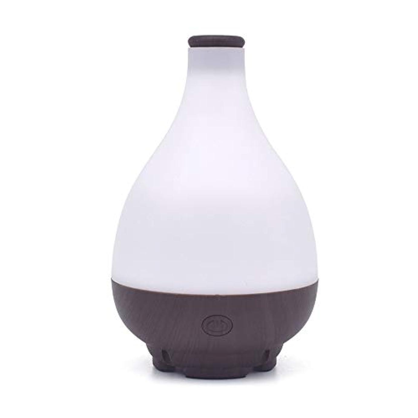 マウンド投票更新する水滴は、エッセンシャルオイルディフューザーは、ミスト加湿器ディフューザーのホームヨガのオフィスをクール形 (Color : Deep wood grain, Size : 9.8×15.5)
