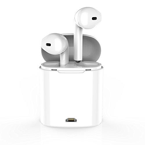 WSCSR ブルートゥースイヤホン 完全ワイヤレスBluetooth高音質 イヤホンヘッドホンステレオインイヤーイヤホンイヤホンアップルエアポッド用ハンズフリーノイズキャンセリング Apple AirPods iPhone X/8/8plus/7/7plu