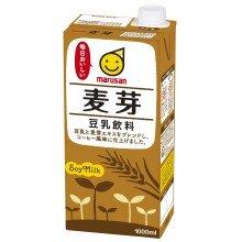 マルサン 豆乳飲料 麦芽 1L ×6本