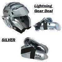 Lightning Silver Karate Sparring Gear Package Deal - Child Medium