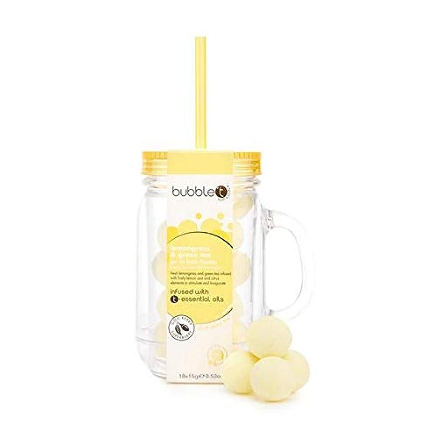 四面体ハブブ学者[BUBBLE T] バブルトン風呂Fizziesメイソンジャー、レモングラス&緑茶 - Bubble T Bath Fizzies Mason Jar, Lemongrass & Green Tea [並行輸入品]