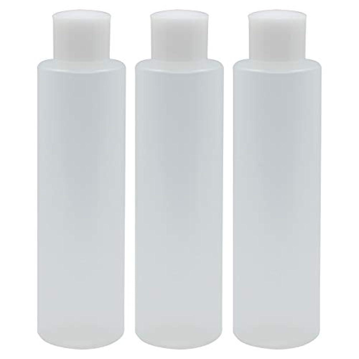 素朴な手当友情日本製 PPボトル 半透明 スクリューキャップ 中栓付き 3本セット