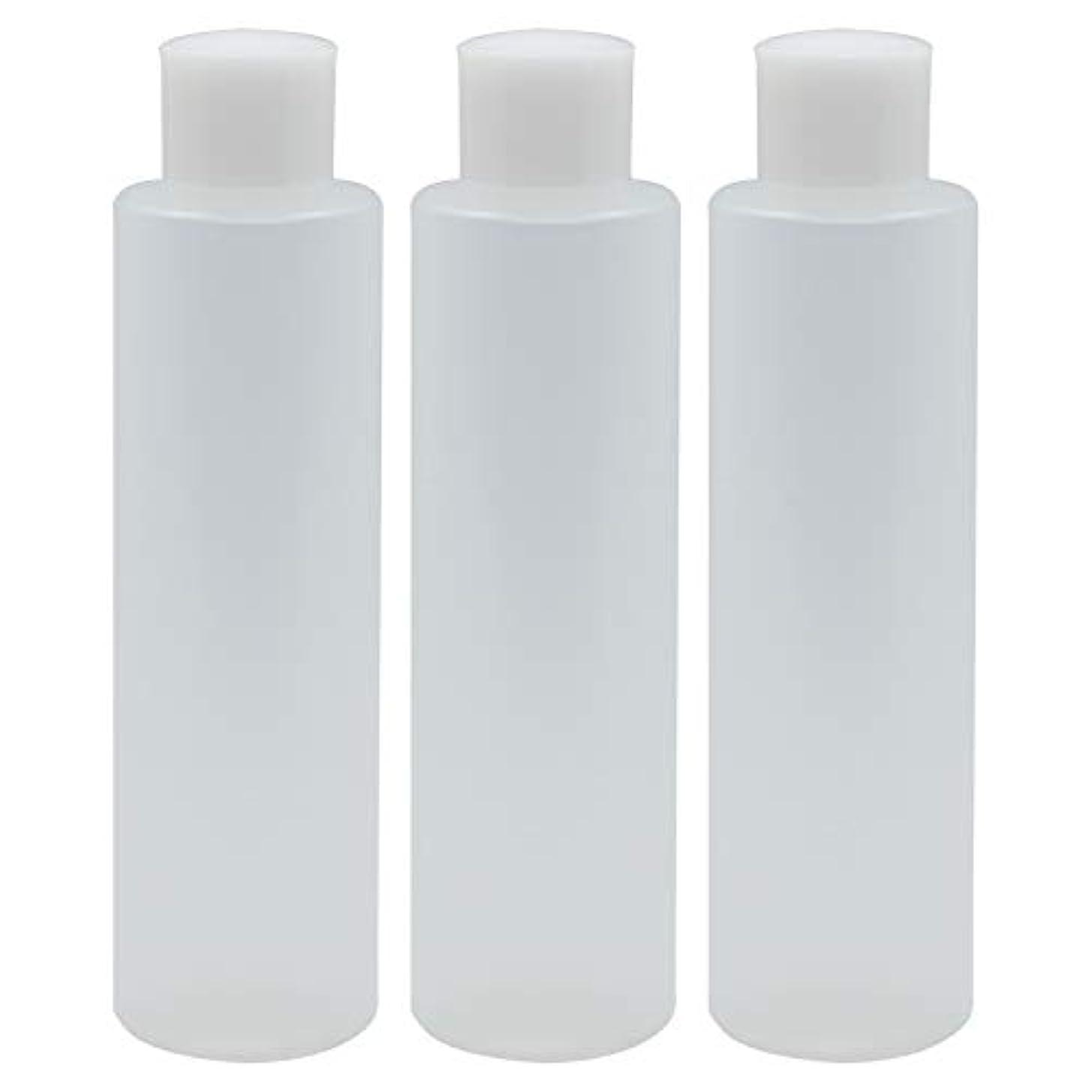 例チップ検体日本製 PPボトル 半透明 スクリューキャップ 中栓付き 3本セット
