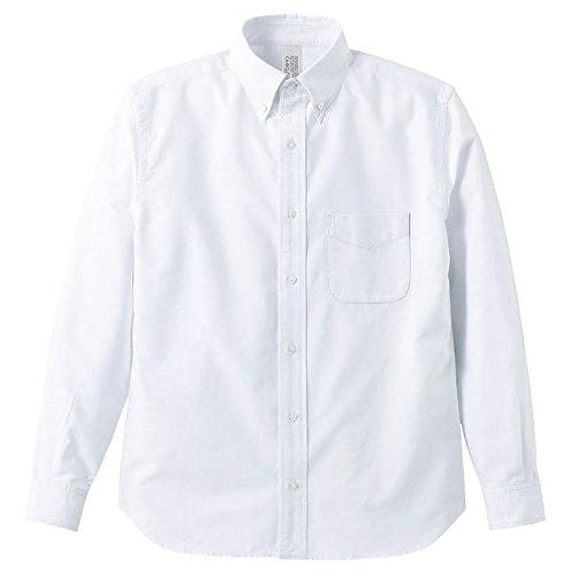 マキシム喜び迫害するオックスフォードボタウンダウンワンウォッシュ長袖シャツ OXホワイト Lサイズ