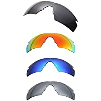 NicelyFit Polarized Lenses for Oakley Si Ballistic M Frame 2.0 Sunglasses (4 Pairs - Black Blue Red Titanium)