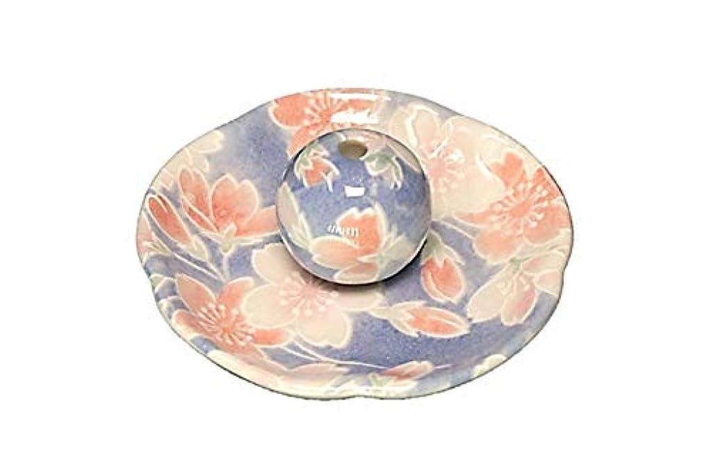 ダイヤモンド砦回答染桜 花形香皿 お香立て お香たて 日本製 ACSWEBSHOPオリジナル