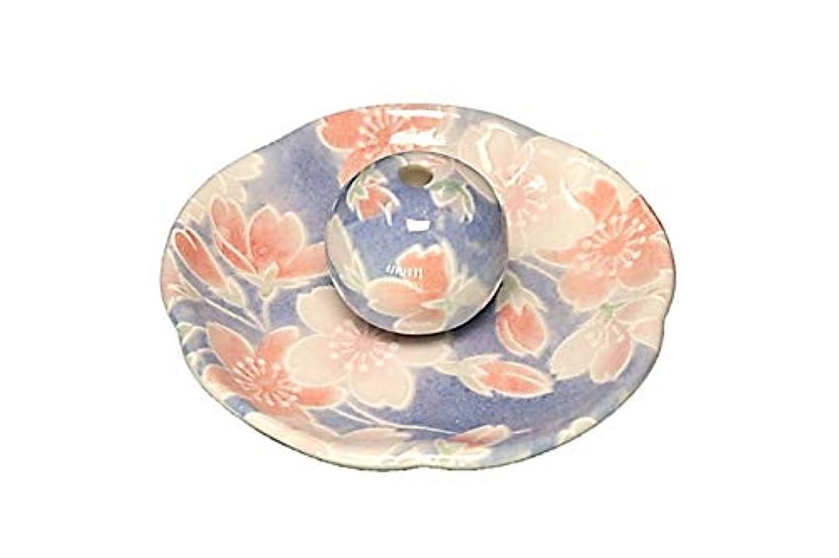 悪党葬儀酔っ払い染桜 花形香皿 お香立て お香たて 日本製 ACSWEBSHOPオリジナル