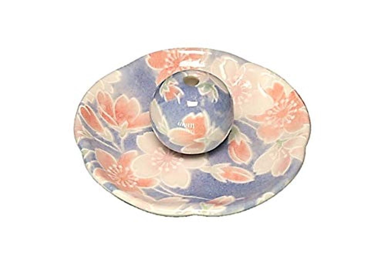 ディスク毎週検出可能染桜 花形香皿 お香立て お香たて 日本製 ACSWEBSHOPオリジナル