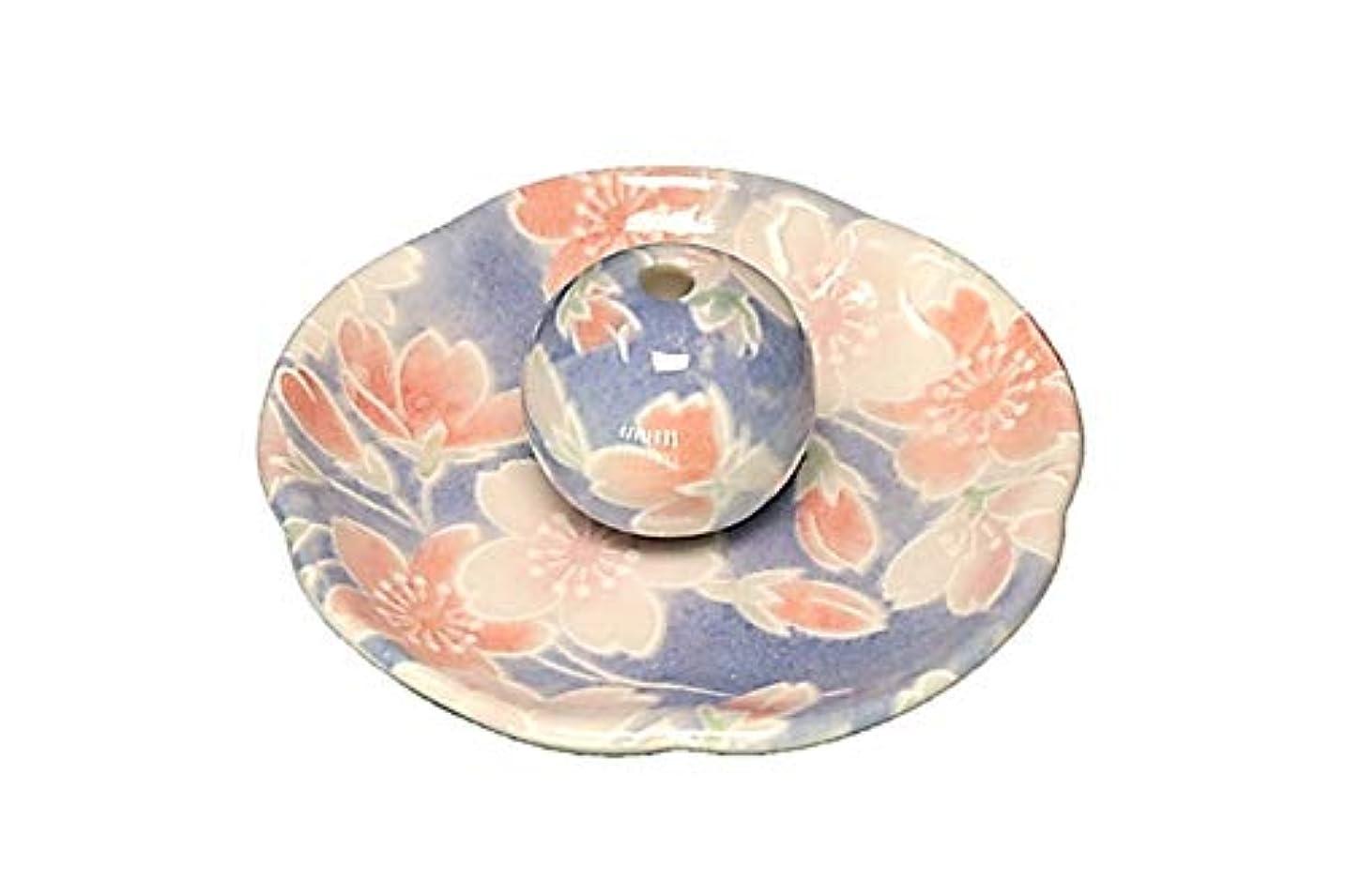 最大限中風邪をひく染桜 花形香皿 お香立て お香たて 日本製 ACSWEBSHOPオリジナル