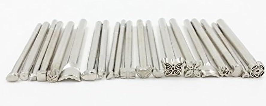 キャリッジ電気顕著レザークラフト カービング用 刻印 入門セット (a.刻印20本セット)