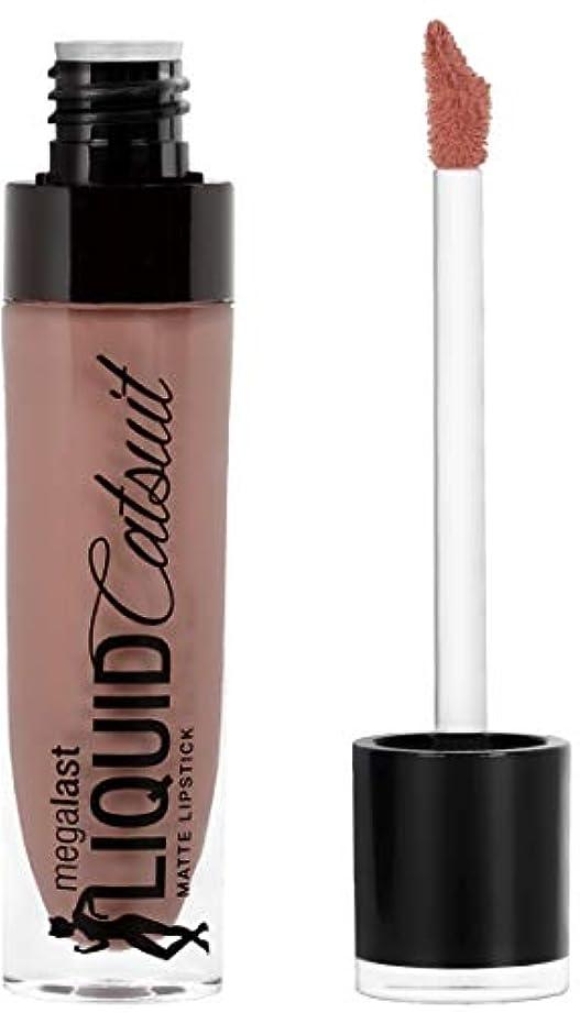 ブラシ対立報復WET N WILD MegaLast Liquid Catsuit Matte Lipstick - Nudie Patootie (並行輸入品)