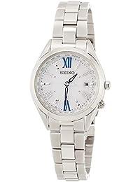 [ルキア]LUKIA 腕時計 LUKIA ソーラー電波 チタンモデル ダイヤ入りホワイト文字盤 サファイアガラス プラチナダイヤシールド ワールドタイム機能付 SSQV053 レディース