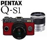 PENTAX ミラーレス一眼デジタルカメラ Q-S1 ダブルズームキット [ガンメタル×カーマインレッド]