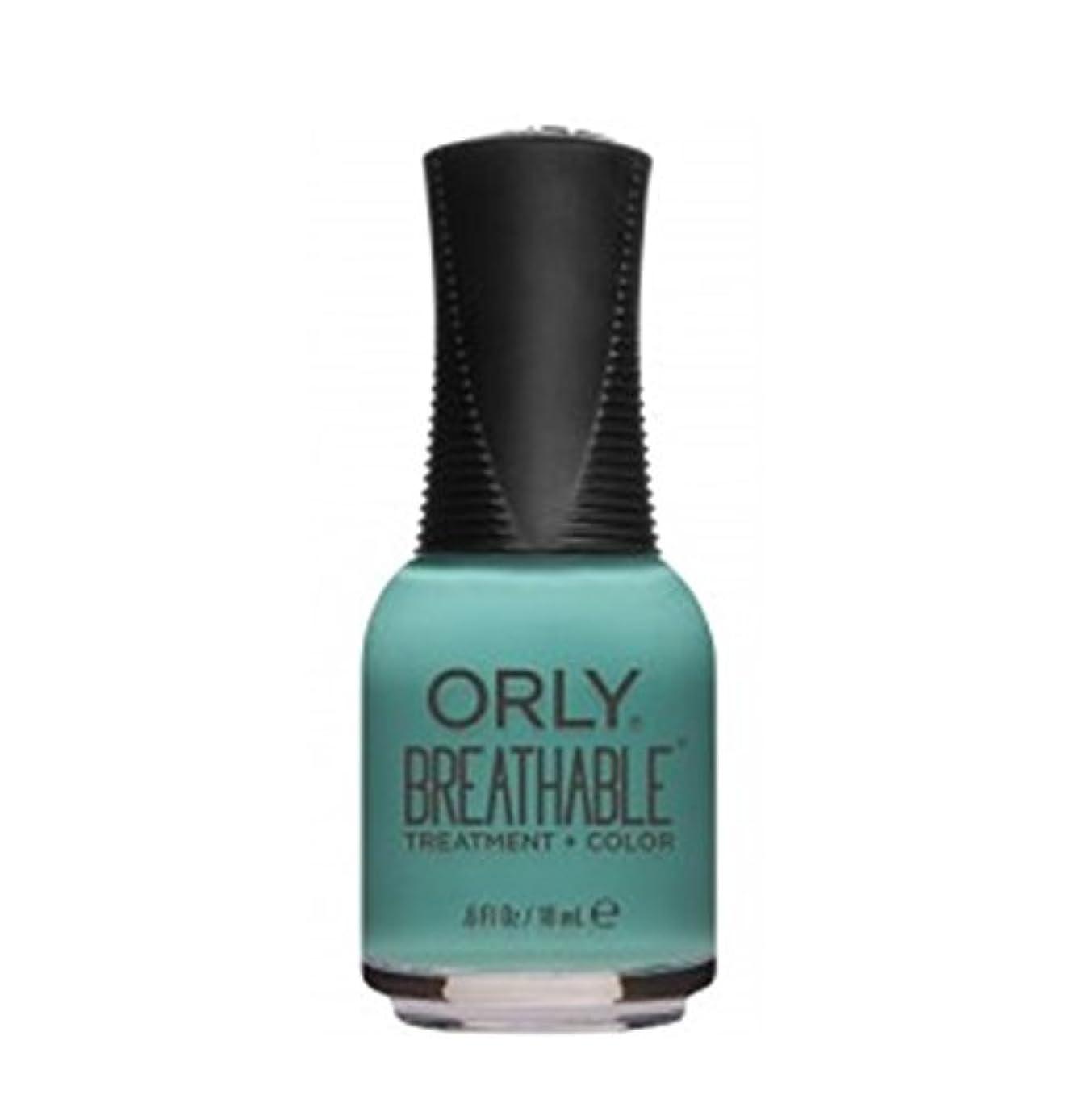 教育謝る範囲ORLY Breathable Lacquer - Treatment+Color - Sea the Future - 18 ml/0.6 oz