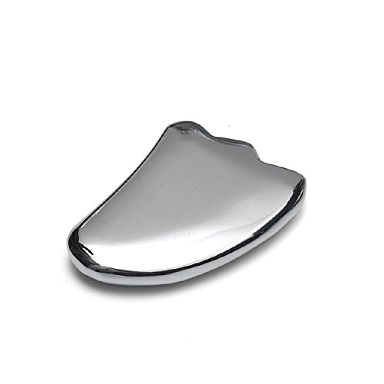 【OVER-9】 テラヘルツ鉱石 かっさ プレート 羽根型 40mm 美顔器 美容 フェイス 原石 超遠赤外線 健康 カッサ マッサージ