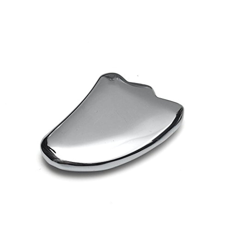 前方へかかわらずレイア【OVER-9】 テラヘルツ鉱石 かっさ プレート 羽根型 40mm 美顔器 美容 フェイス 原石 超遠赤外線 健康 カッサ マッサージ