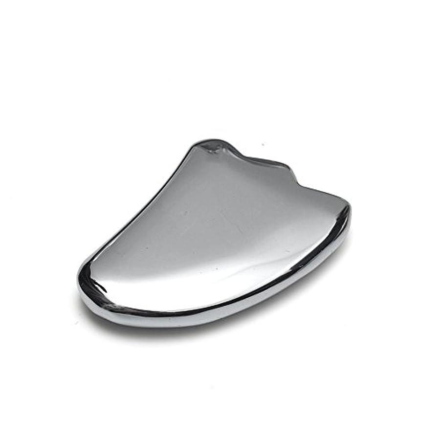 着服達成する行う【OVER-9】 テラヘルツ鉱石 かっさ プレート 羽根型 40mm 美顔器 美容 フェイス 原石 超遠赤外線 健康 カッサ マッサージ