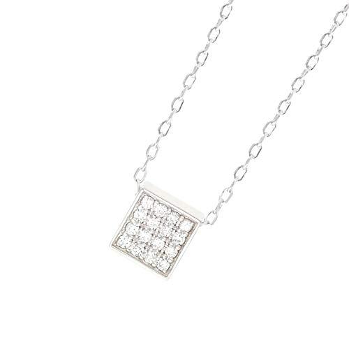 ソウルジュエリー キューブパヴェ ダイヤモンド シルバー SV925 ネックレス 遺骨ペンダント 手元供養