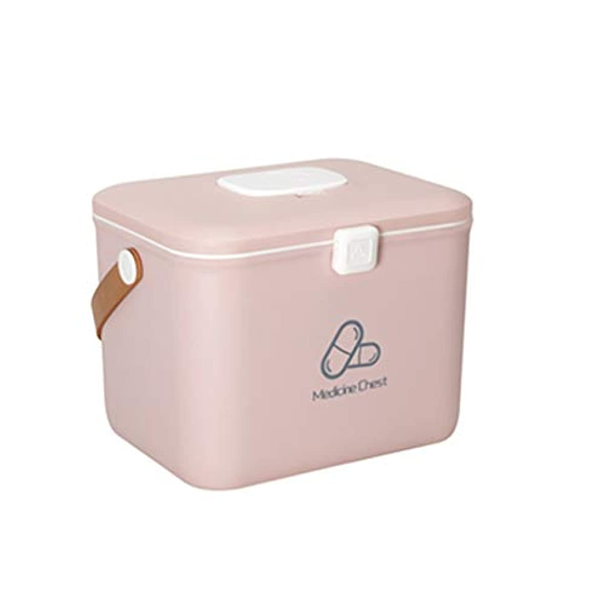 反対した指導するキャンバスIUYWL 医療用収納ボックス、ポータブル救急箱、在宅医療用キャビネット (Color : Pink, Size : 30cm×22cm)