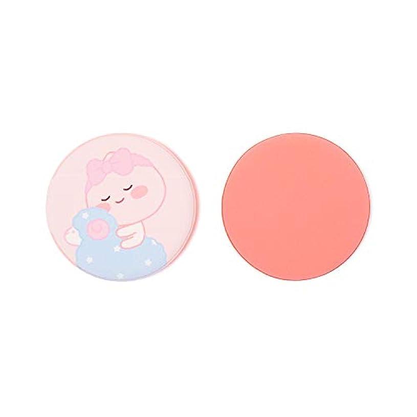 散歩乳白色するだろう[オフィシャル] カカオフレンズ - エアクッションンパフ2P KAKAO FRIENDS - Lovely Apeach Air Cushion Puff 2P (Pink)